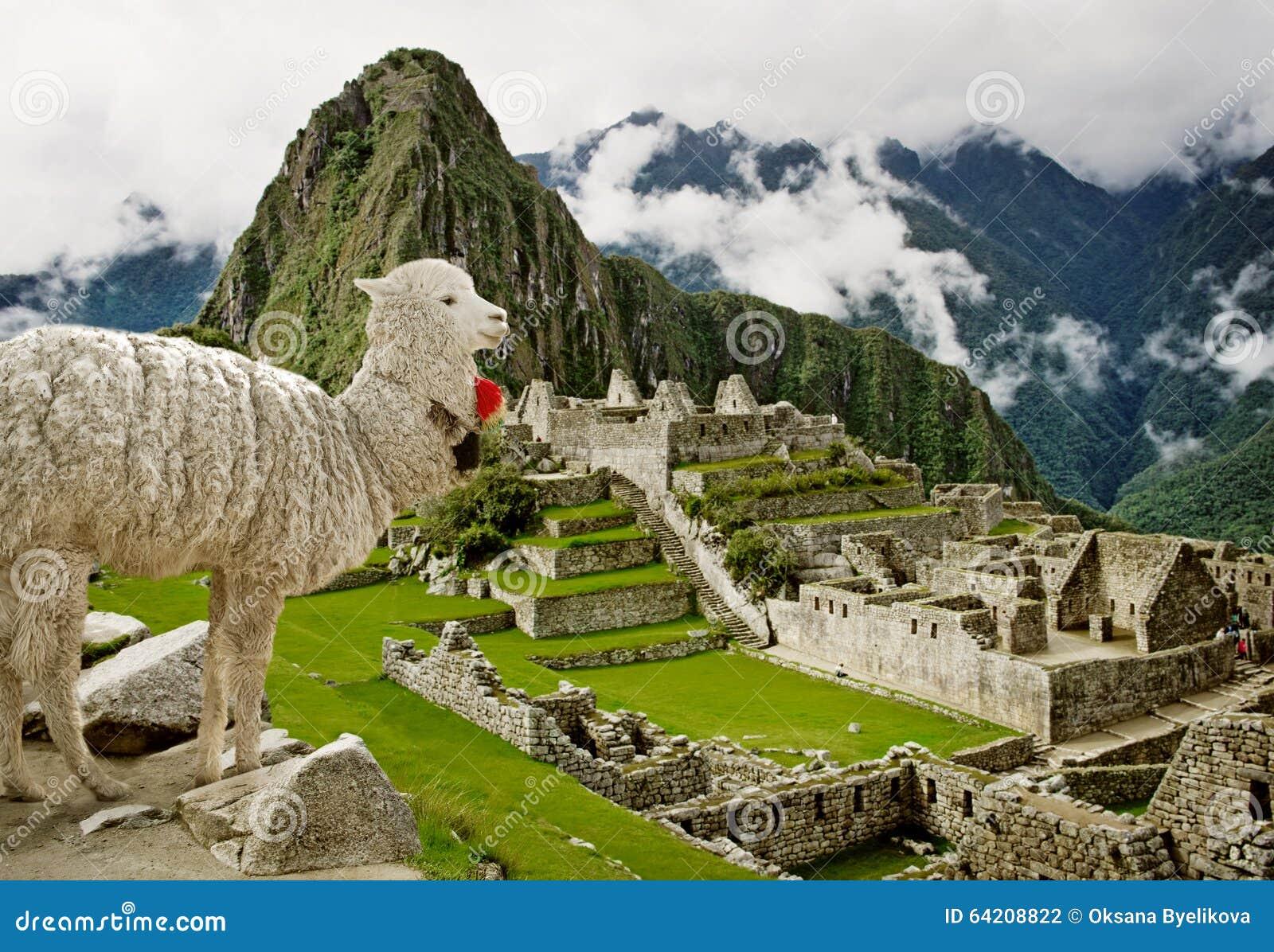 Machu Picchu en Perú Sitio del patrimonio mundial de la UNESCO