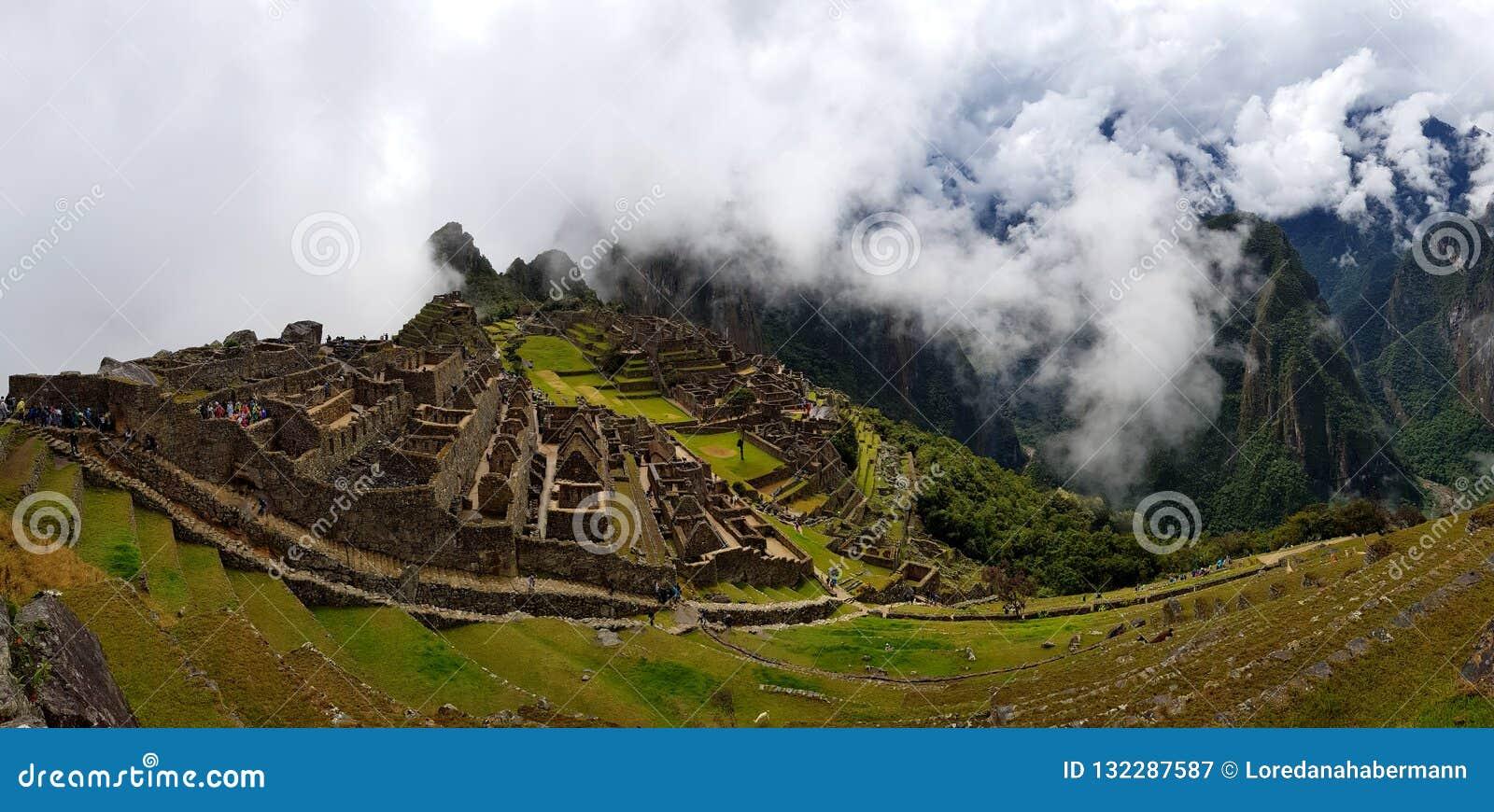 Machu Picchu, Incnca ruins in the Peruvian Andes