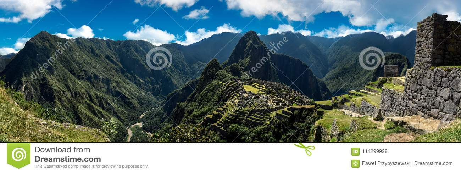 Machu Picchu Pérou - vue panoramique sur une montagne