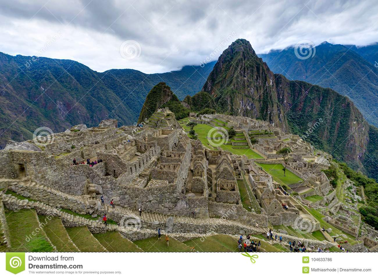 Download Machu Picchu In Peru Custo South America Stock Foto - Afbeelding bestaande uit geology, oriëntatiepunten: 104633786