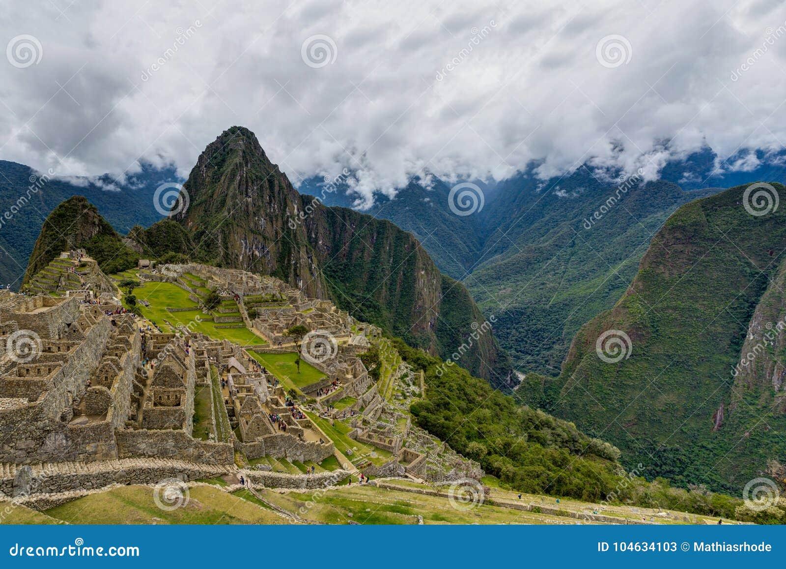 Download Machu Picchu In Peru Custo South America Stock Afbeelding - Afbeelding bestaande uit wolk, verloren: 104634103