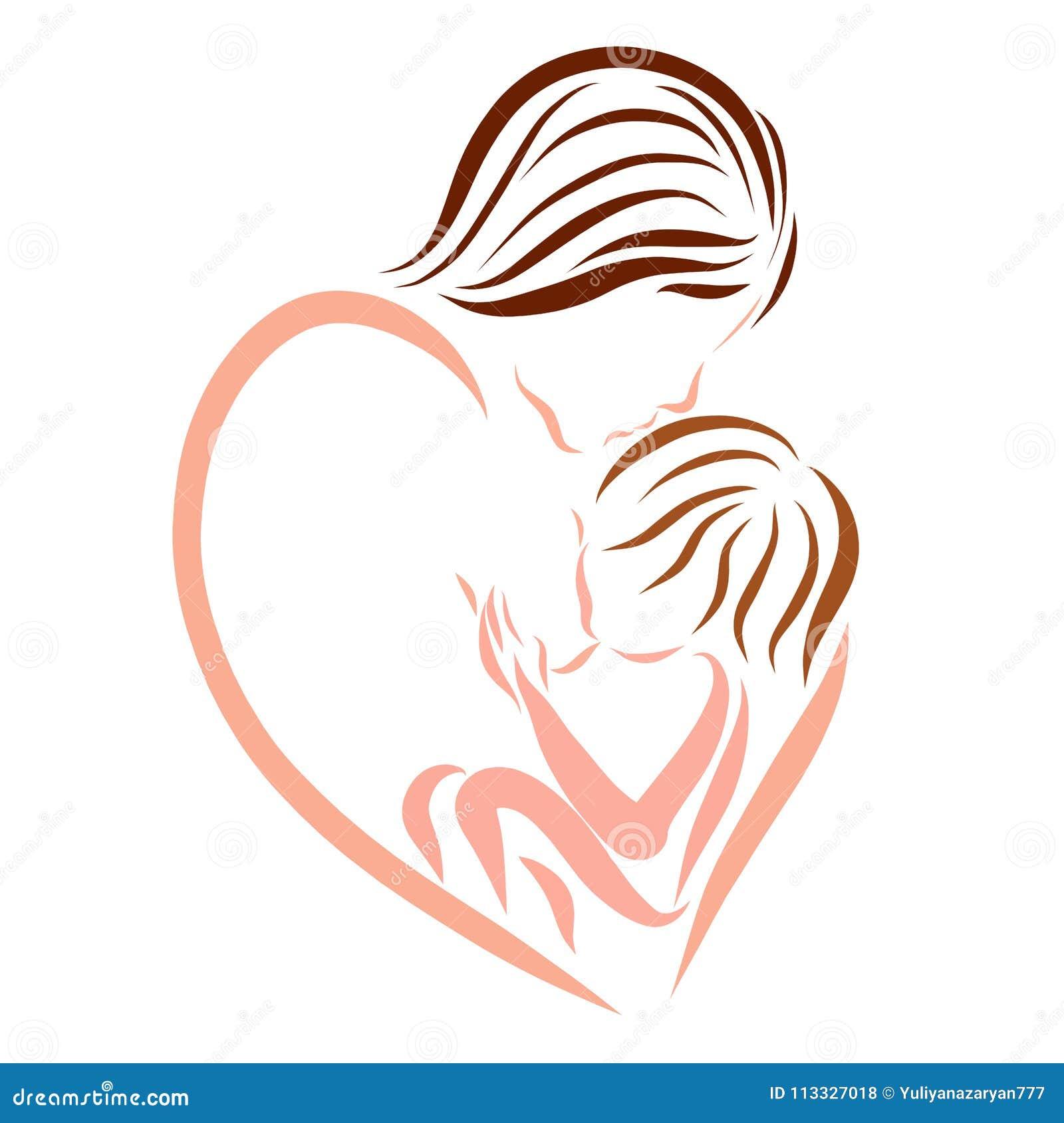 Macierzysta Pielęgnacja Dziecko Miłość I Czułość Logo