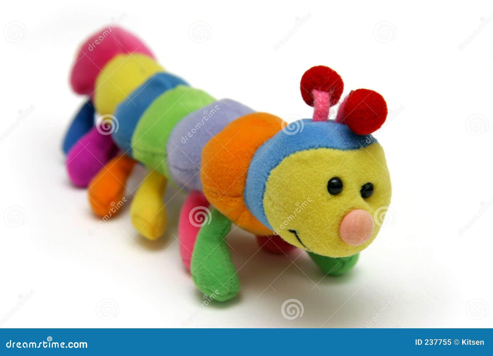 Macio-brinquedo da lagarta da criança