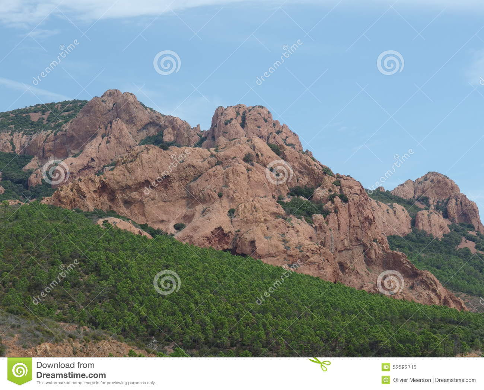 Macizo de Esterel en Provence