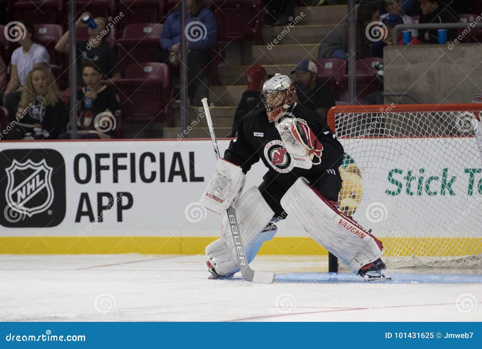 Mackenzie Blackwood Goaltender For The New Jersey Devils Editorial