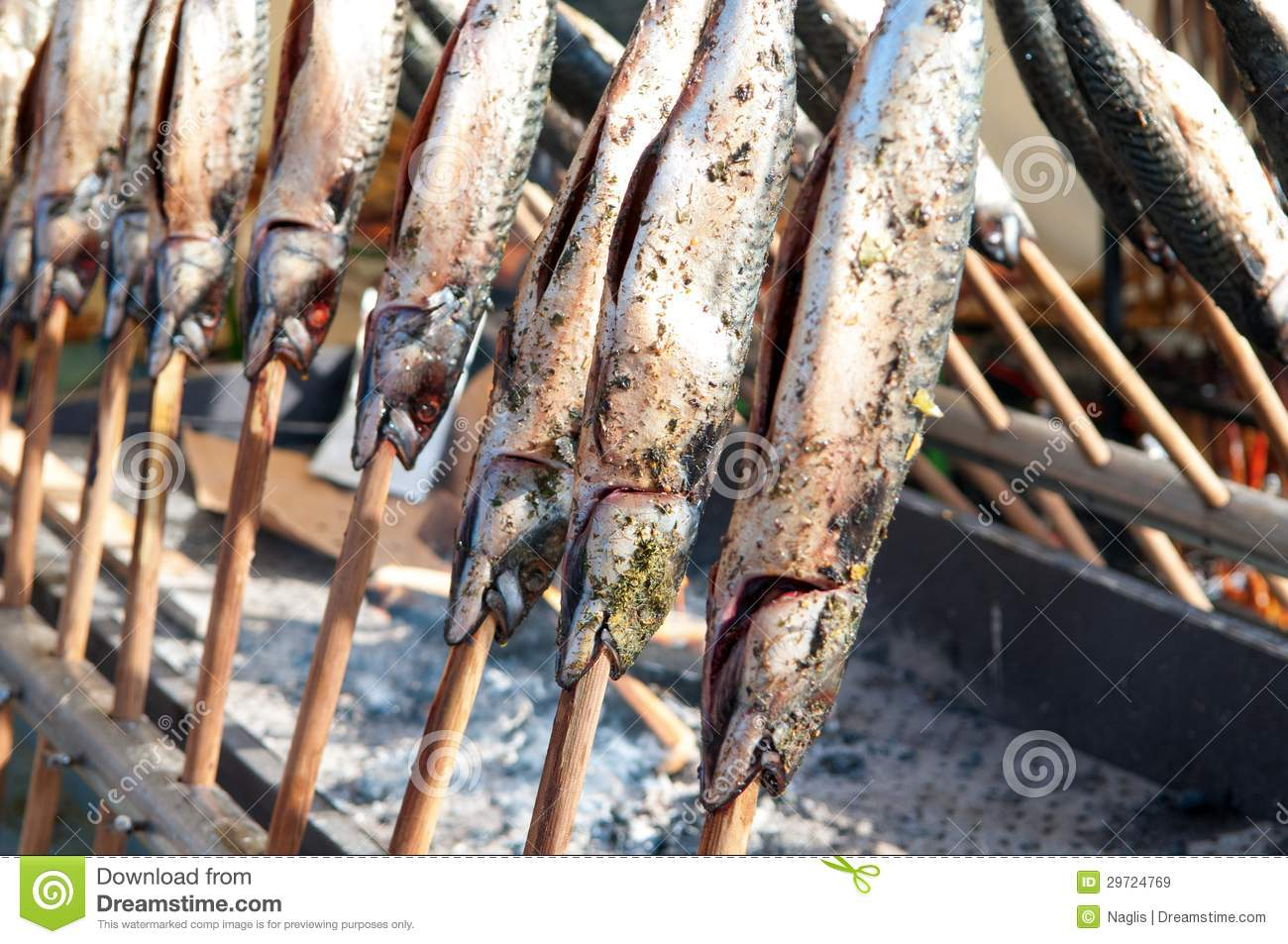 Mackerel on a stick 2 stock image image of healthy for Fish on a stick