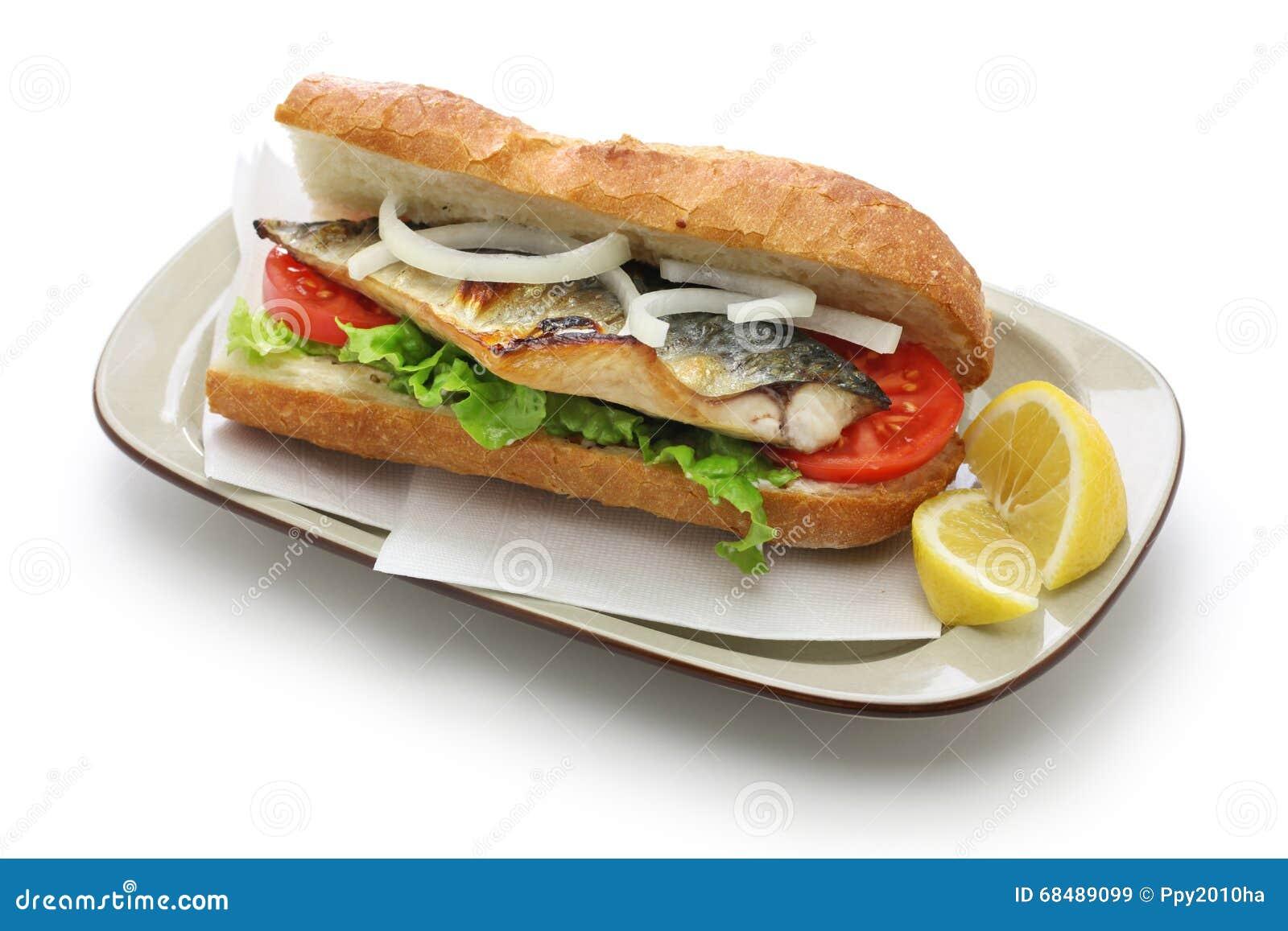 Mackerel fish sandwich, balik ekmek, turkish food