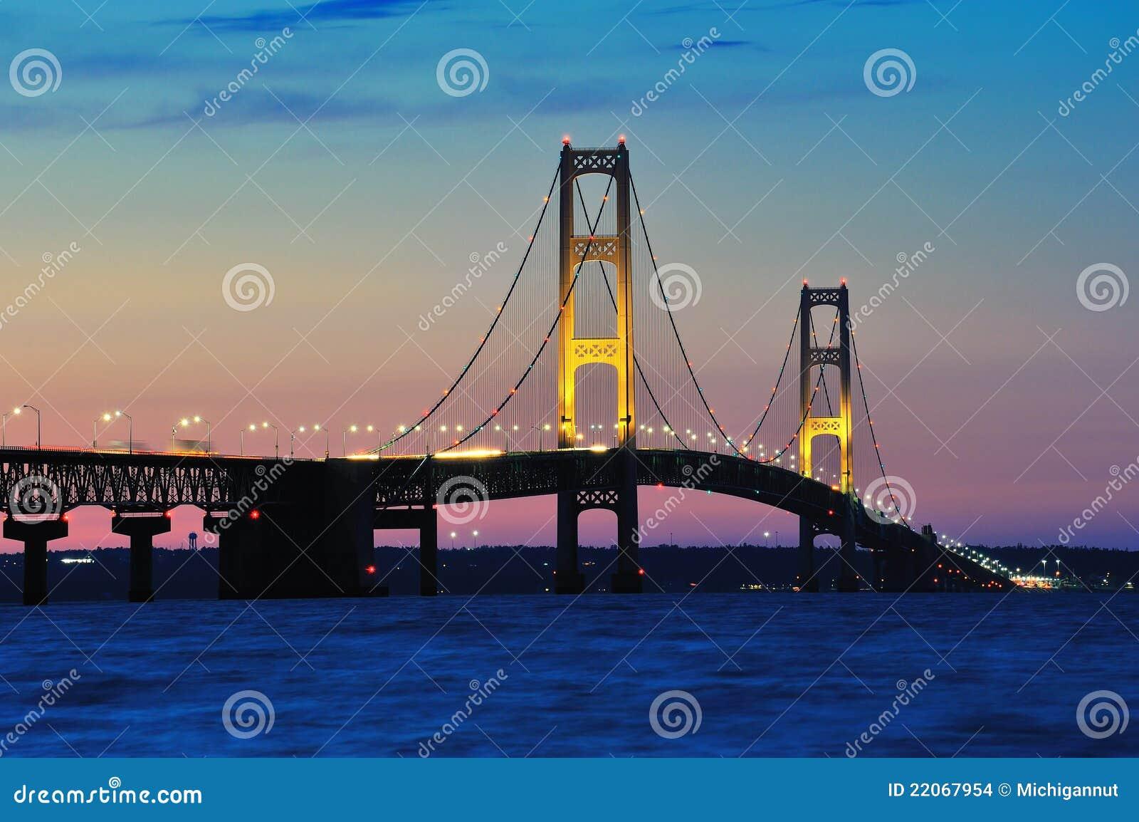 Mackinac Bridge Sunset, Mackinaw City Michigan,USA