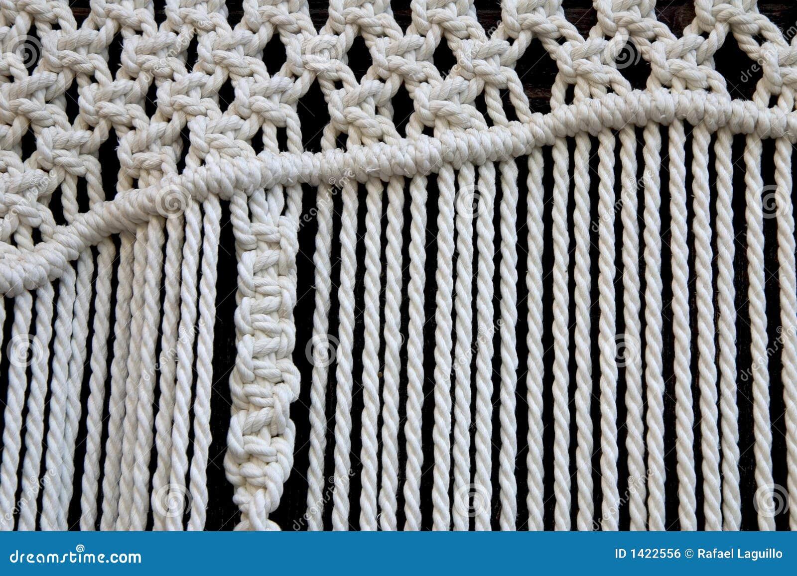 Macrame curtain detail stock photo  Image of intertwine