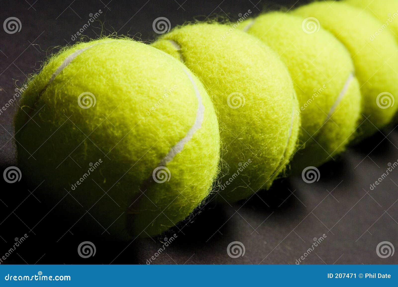 Macro 2 de las pelotas de tenis