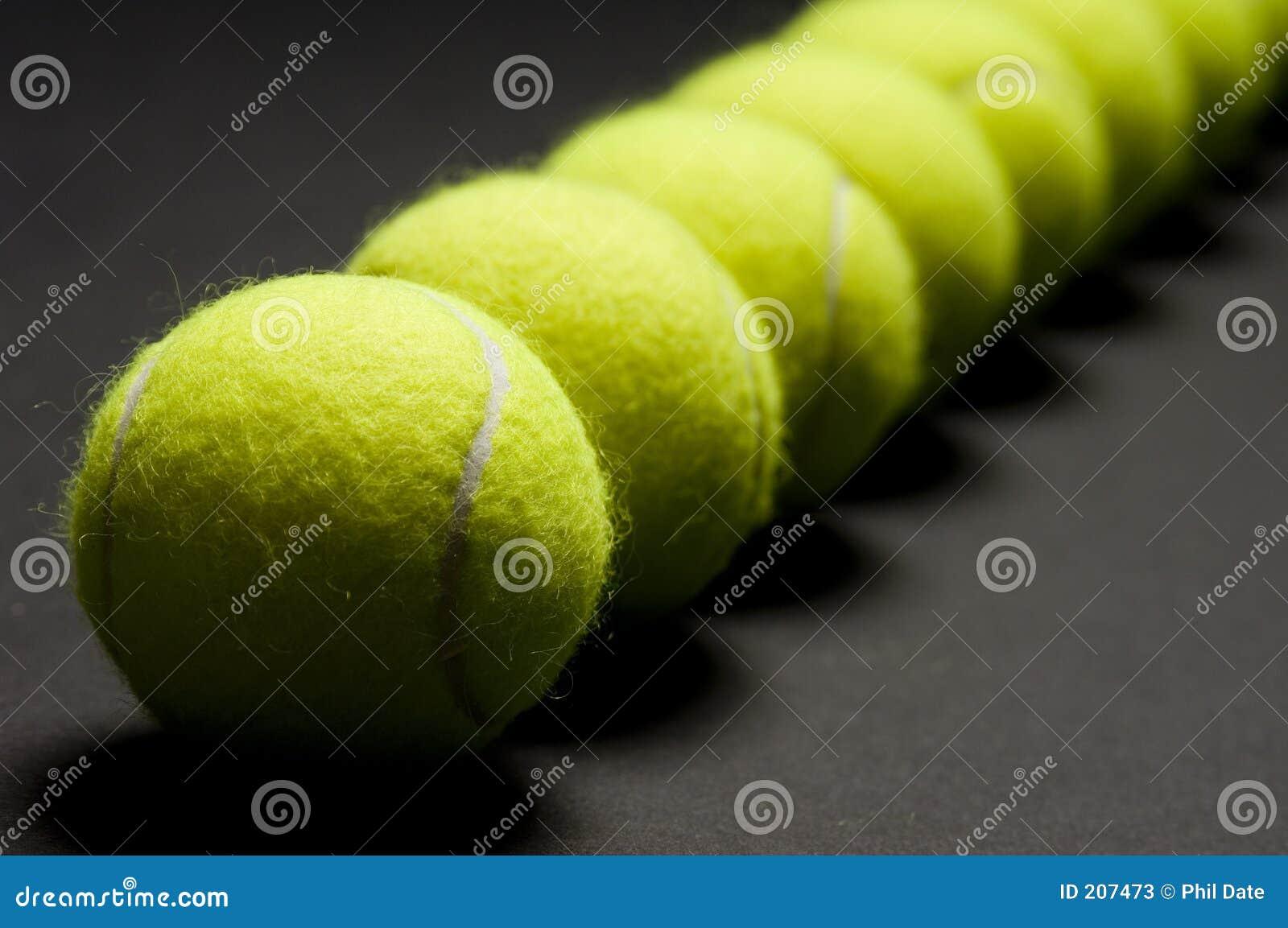 Macro 3 delle sfere di tennis