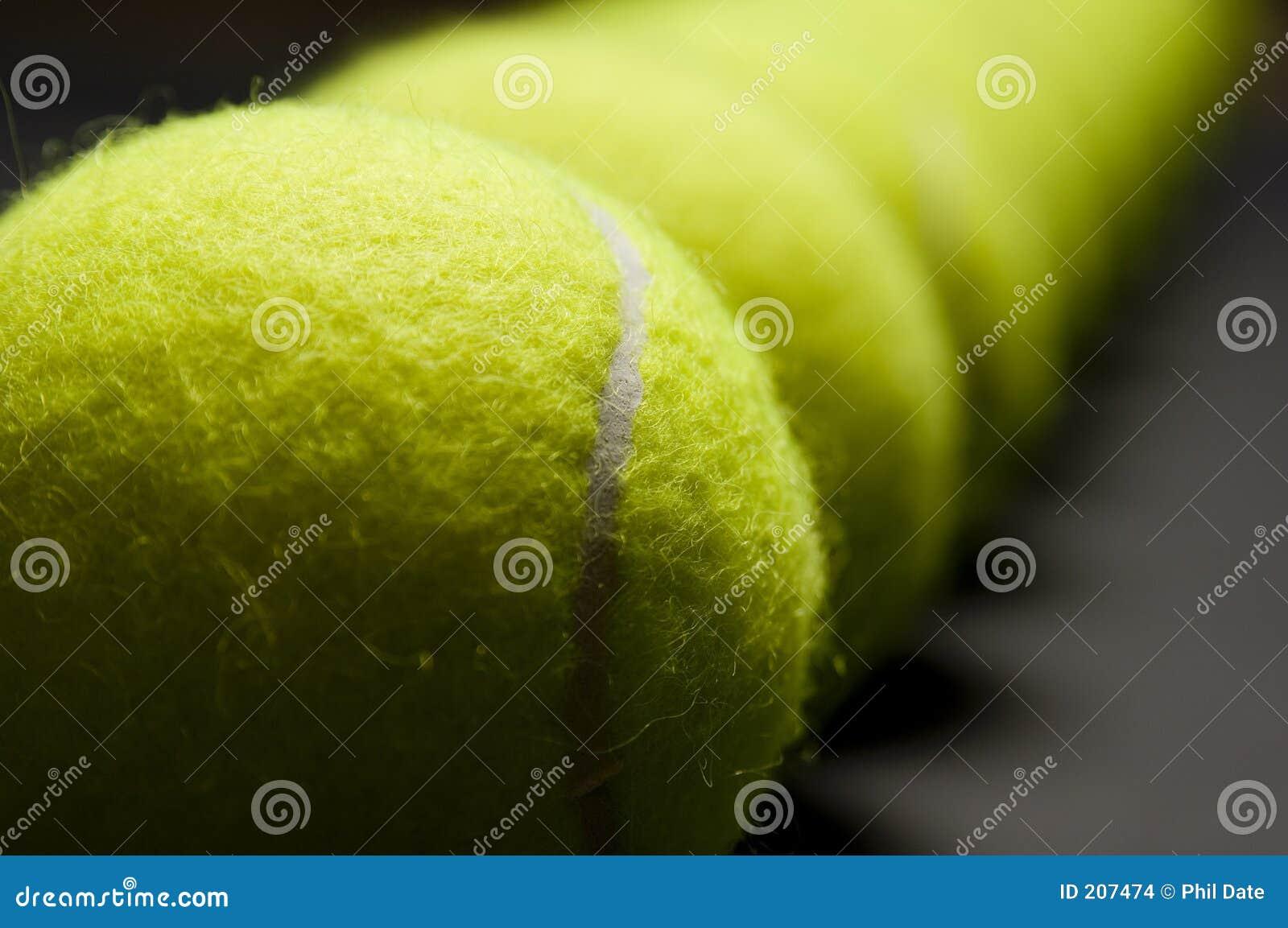 Macro 4 de las pelotas de tenis