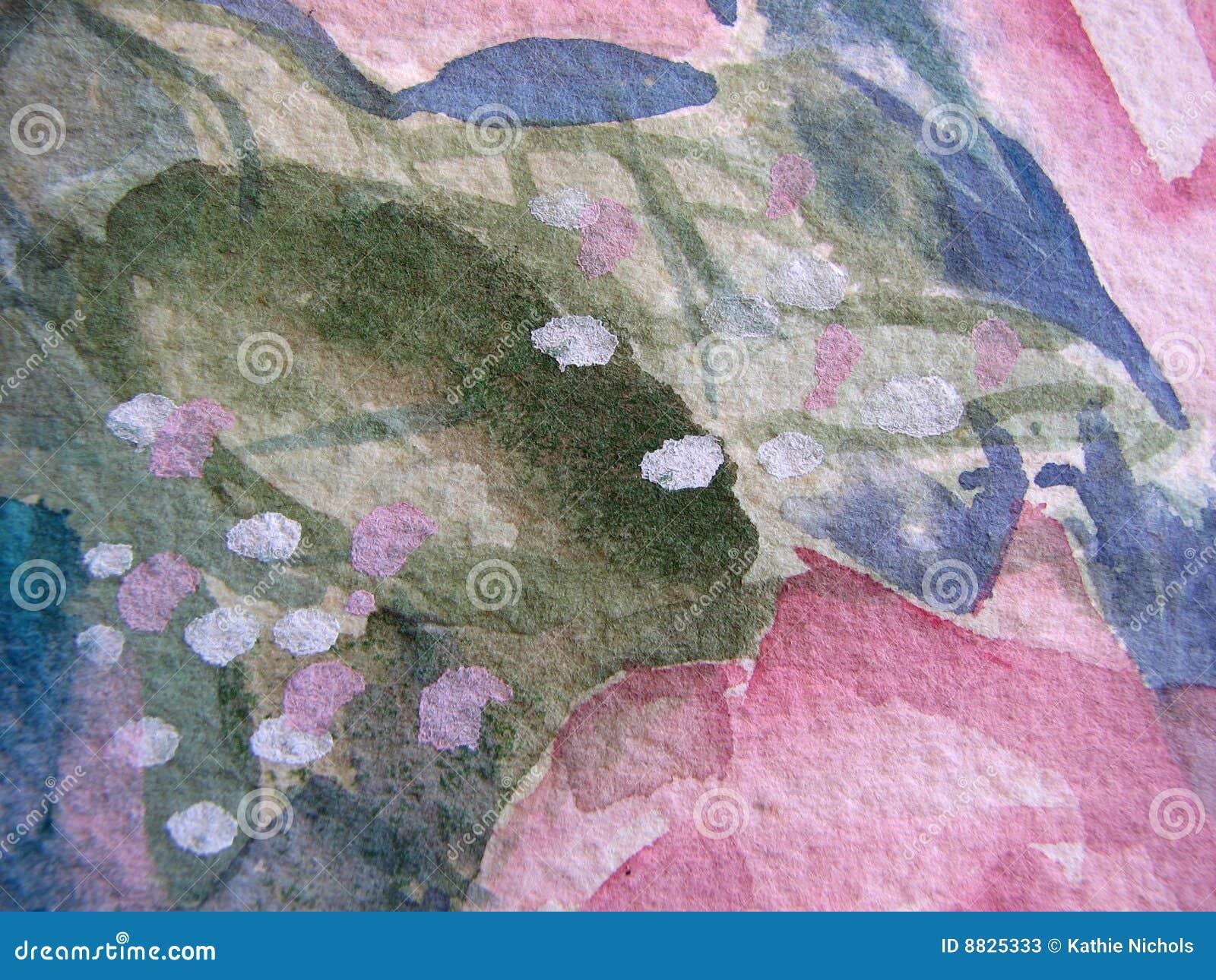 Macro bloemenwaterverf