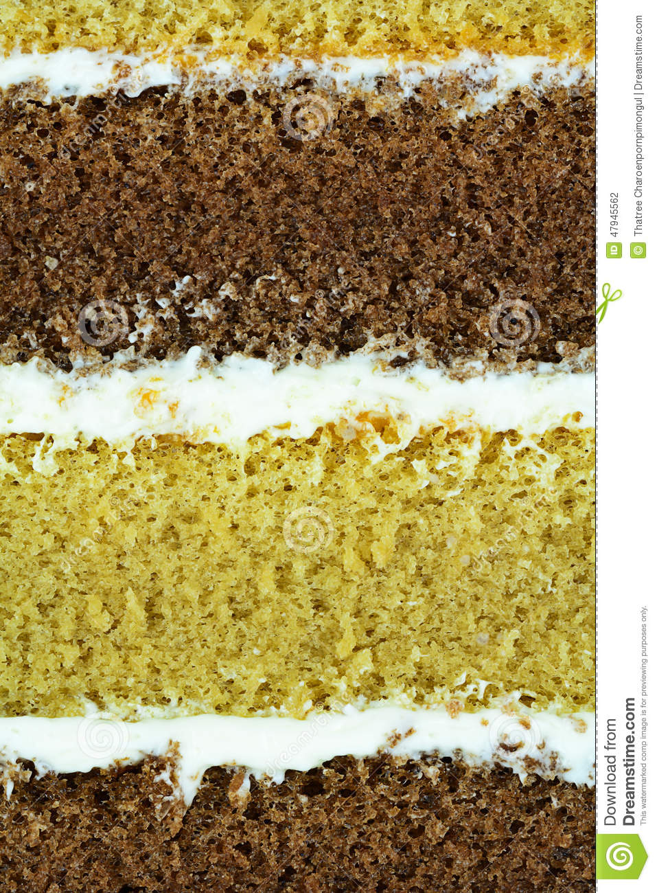 Macro of cake layer for food backround