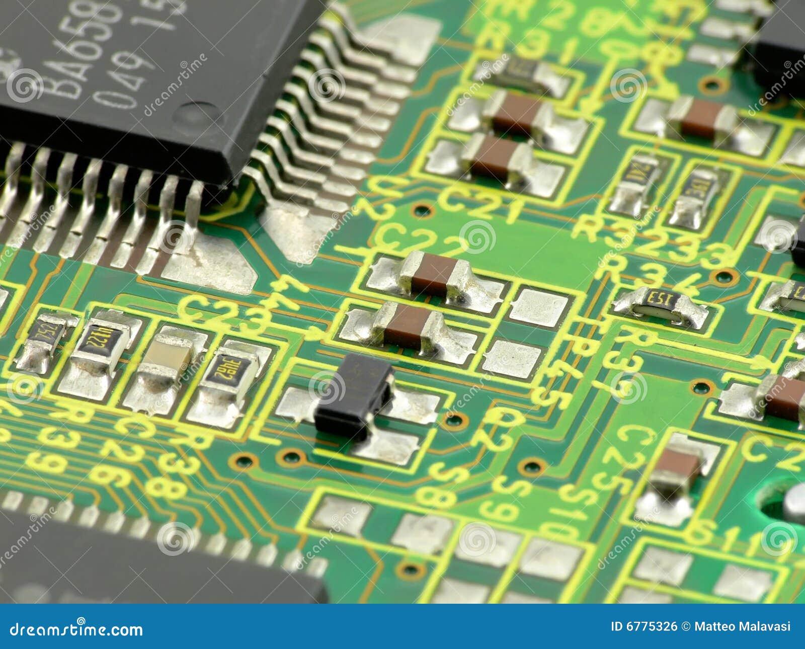 macro chip board stock photo  image of technology