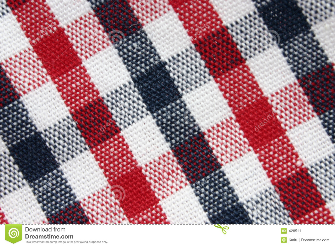 Macro of colorful grid pattern cloth