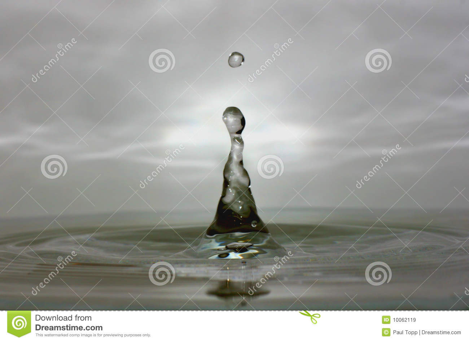 Macro da gota da água