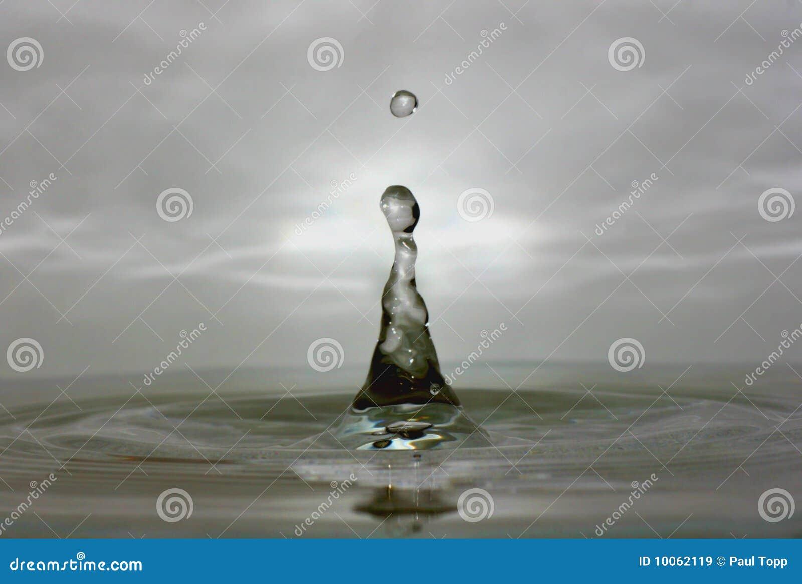 Macro de la gota del agua