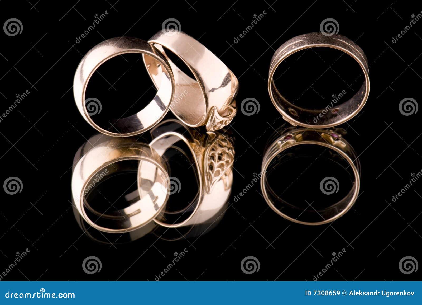 Macro dell anello di oro