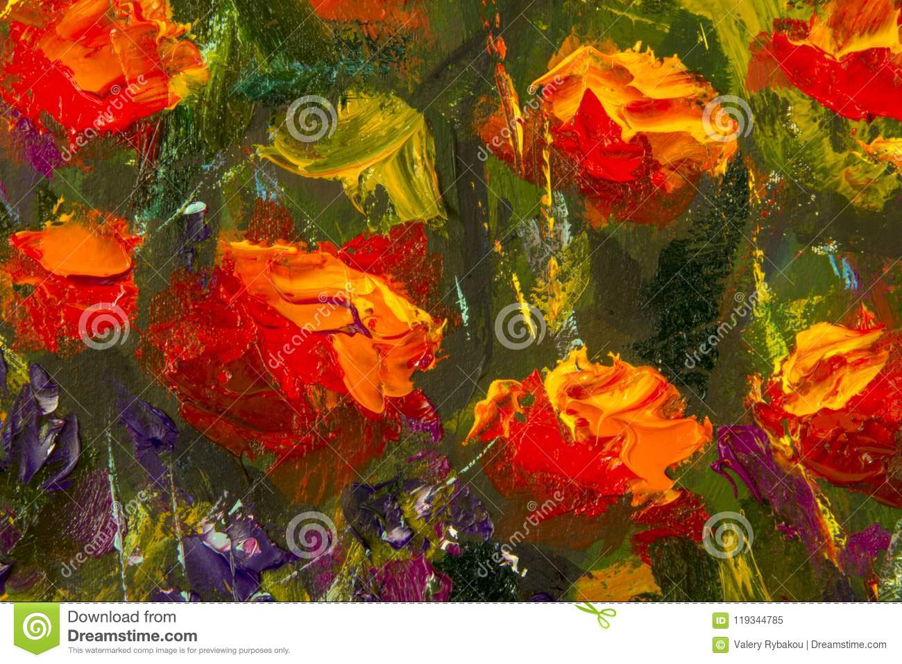 Macro flowers red yellow poppies in green grass fragment of close download macro flowers red yellow poppies in green grass fragment of close up painting mightylinksfo