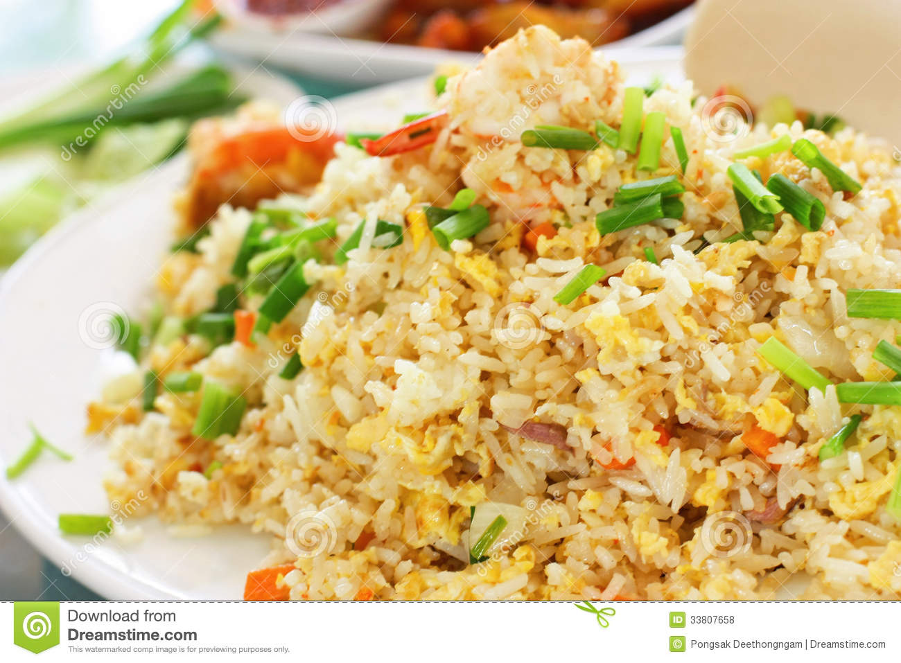 Macro Fried Rice Thai Style Stock Photo - Image: 33807658