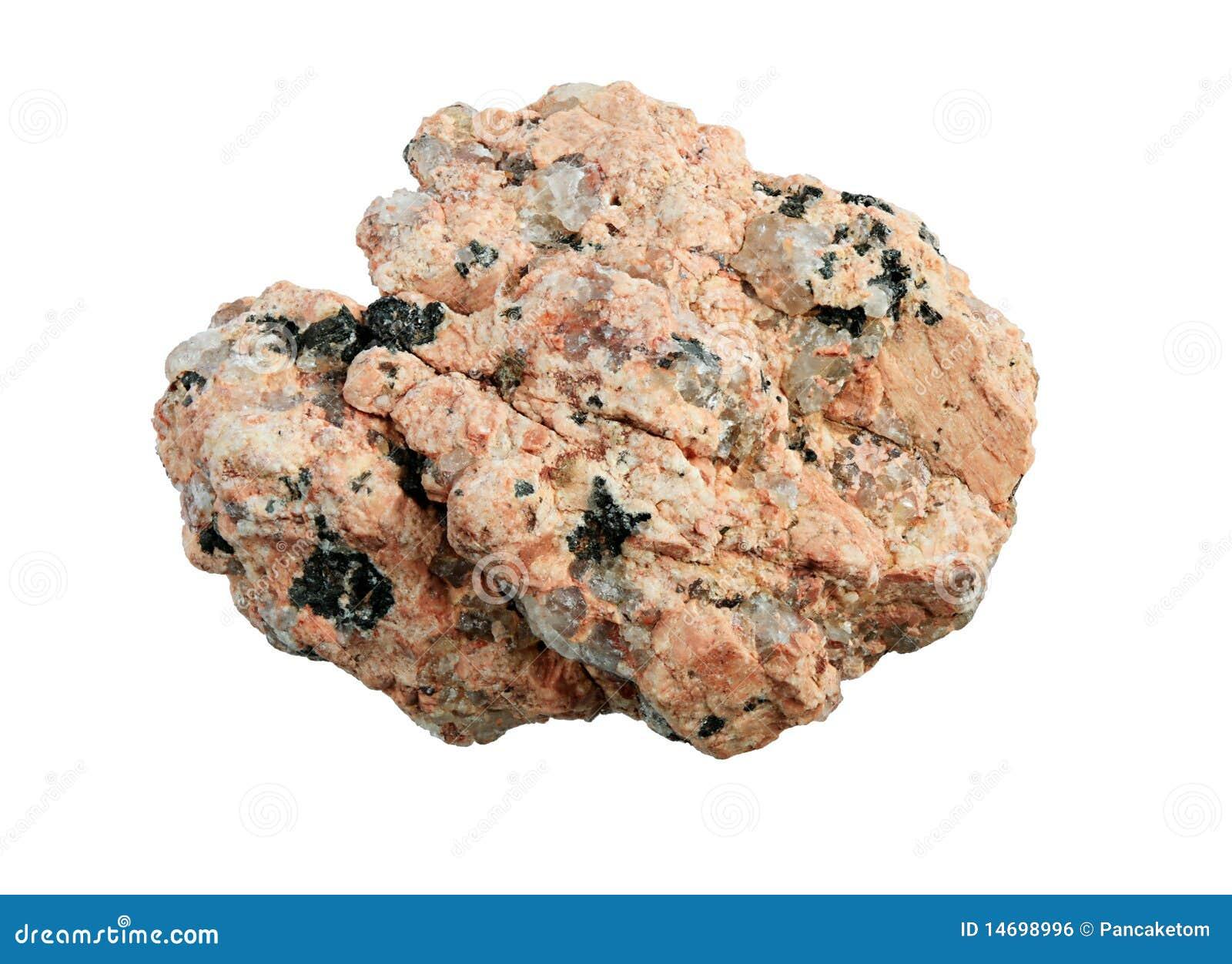 Macro granitowa skała