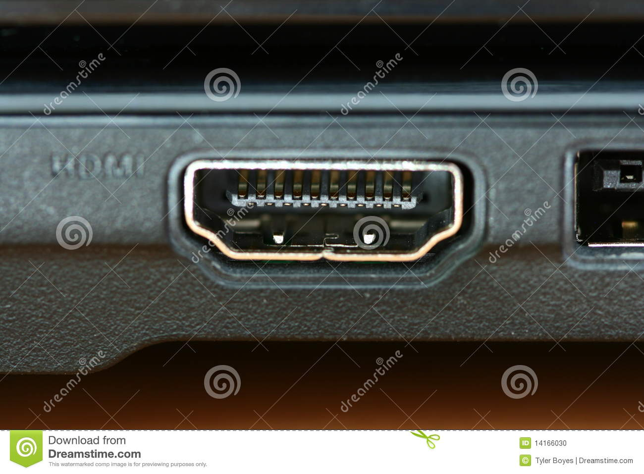 Macro Hdmi Port Stock Photo Image 14166030