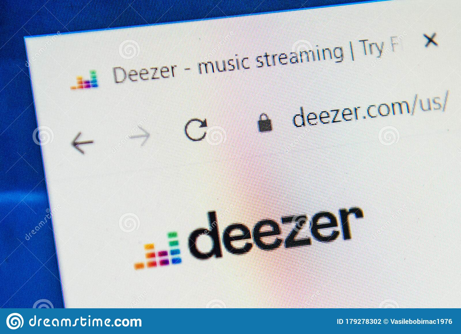 Deezer Com Web Site Selective Focus Editorial Photography Image Of Internet Home 179278302
