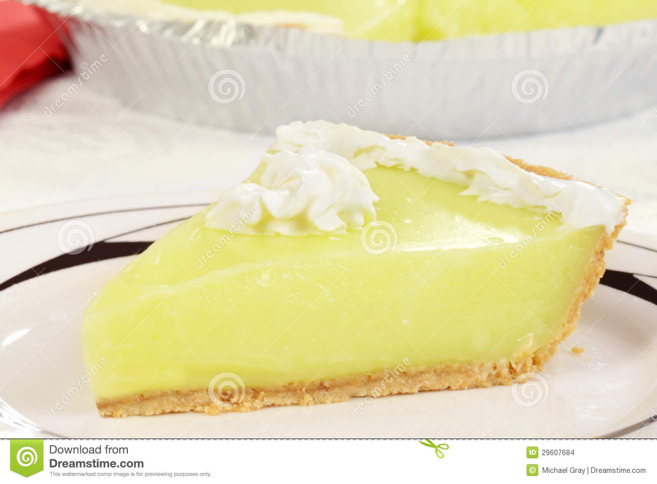 Macro Key Lime Pie Stock Images - Image: 29607684