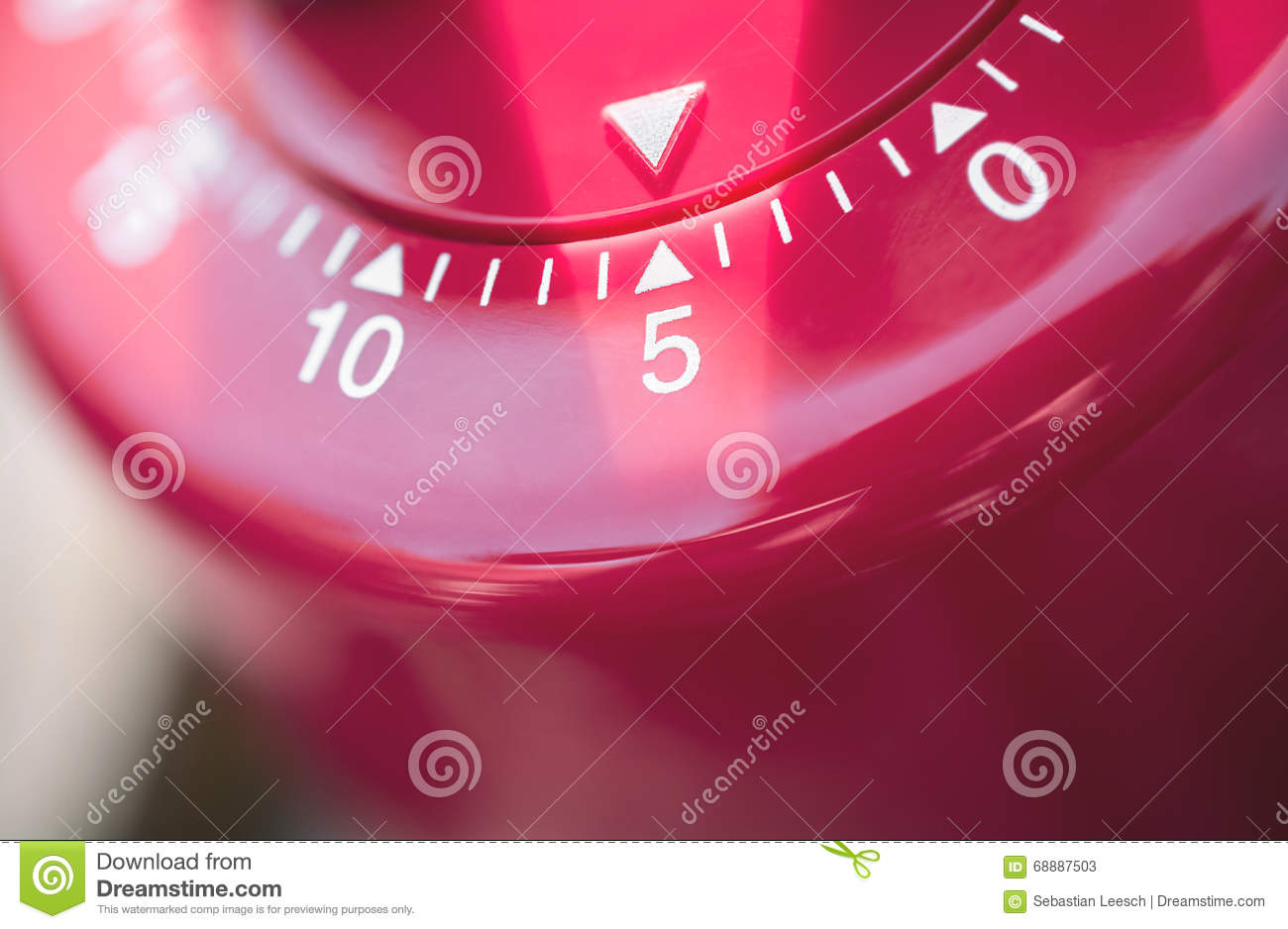macro of a kitchen egg timer 5 minutes stock image image of