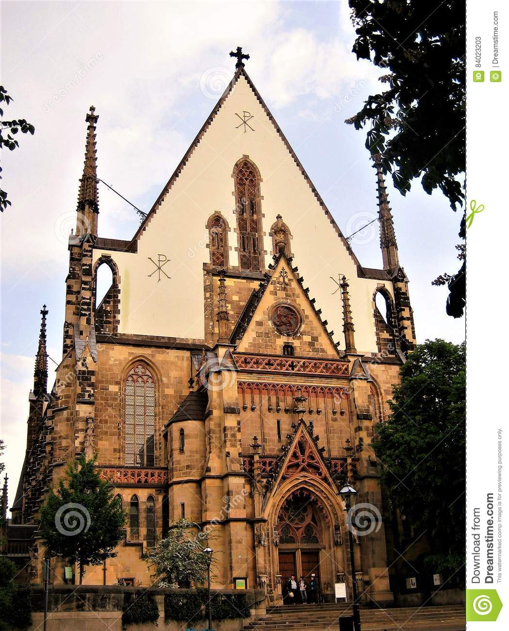 Macro Photo Of An Architectural Religious Buildings St Thomas Church In Leipzig In Germany Stock Image Image Of Famous Advertising 84023203