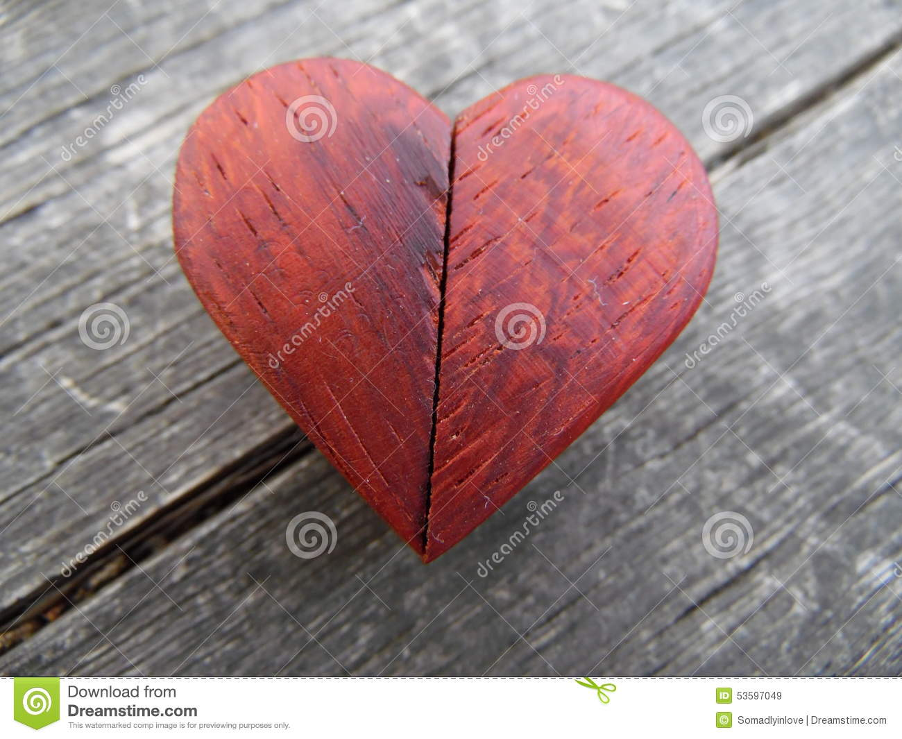 Macro Photograph of Red Wooden Heart