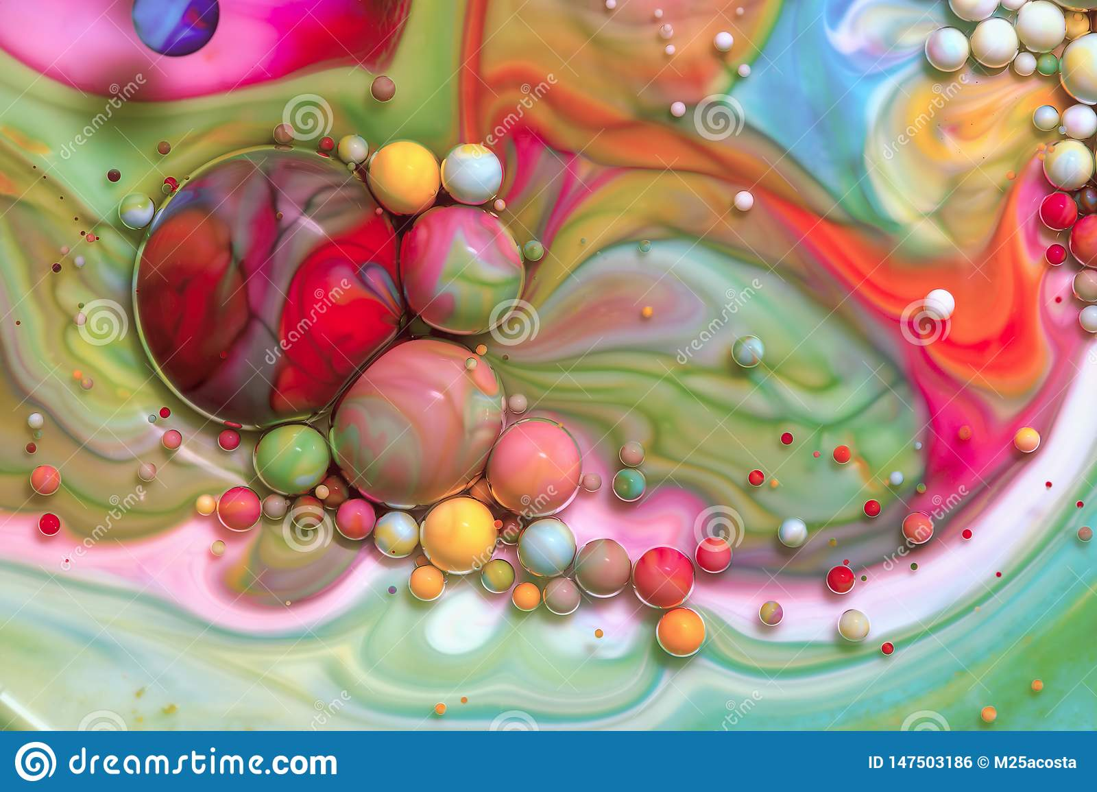 Macro photography of colorful bubbles LXIX