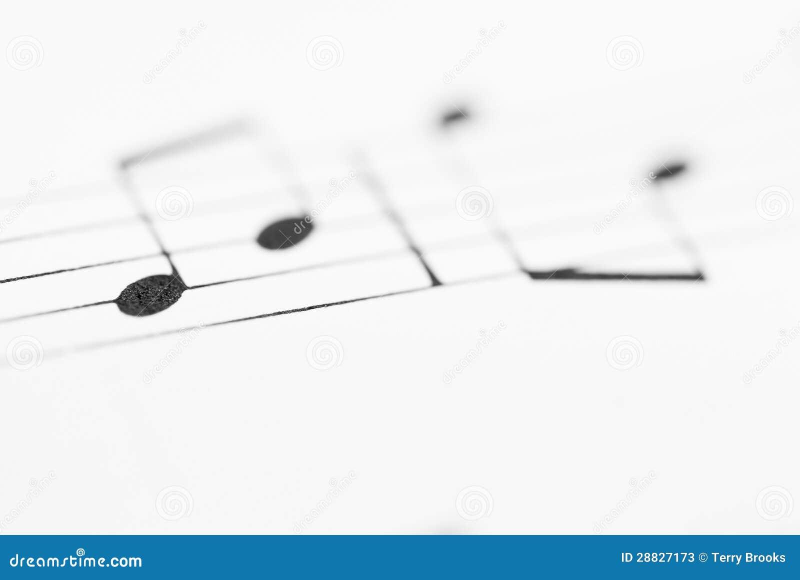 Macro Sheet Music Notes  stock image  Image of minim - 28827173