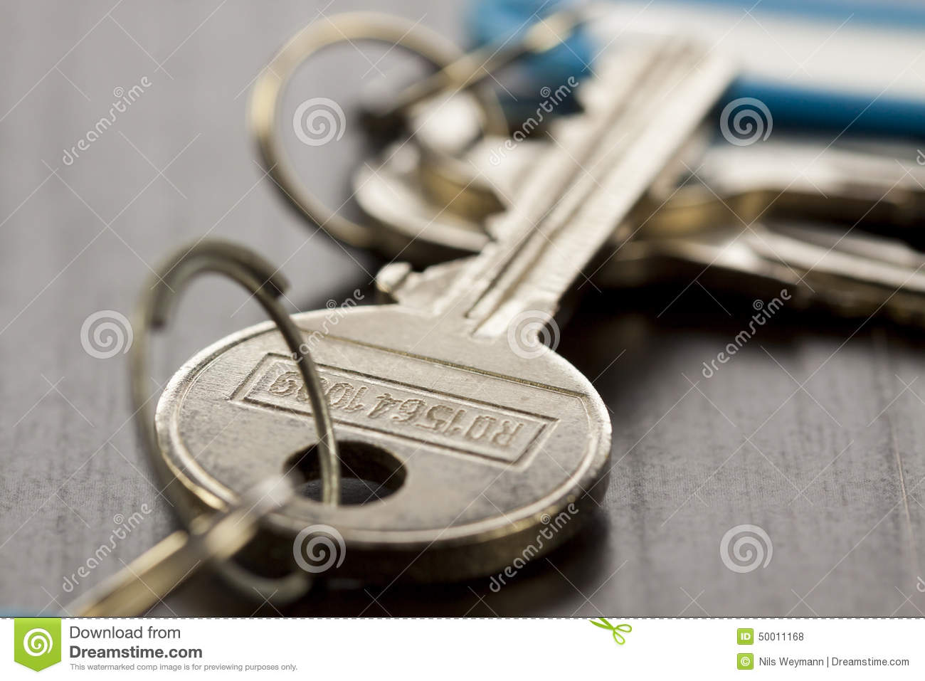 Macro Shot Of Conceptual House Keys Stock Photo - Image ...