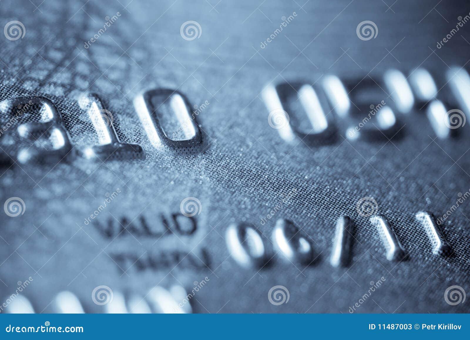 Macro spruit van een creditcard