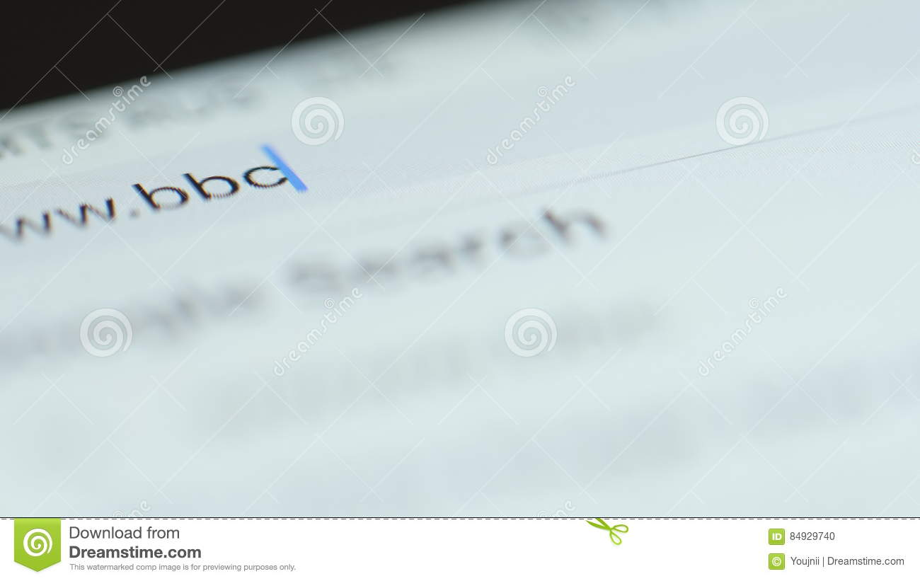 Macro Typing Bbc Domain In Browser Bar Stock Footage Video Of