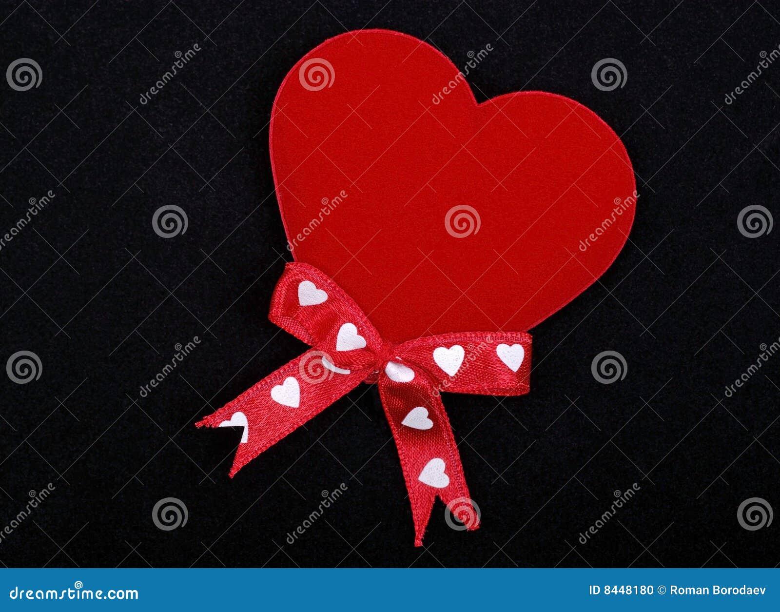 Macro van rood hart
