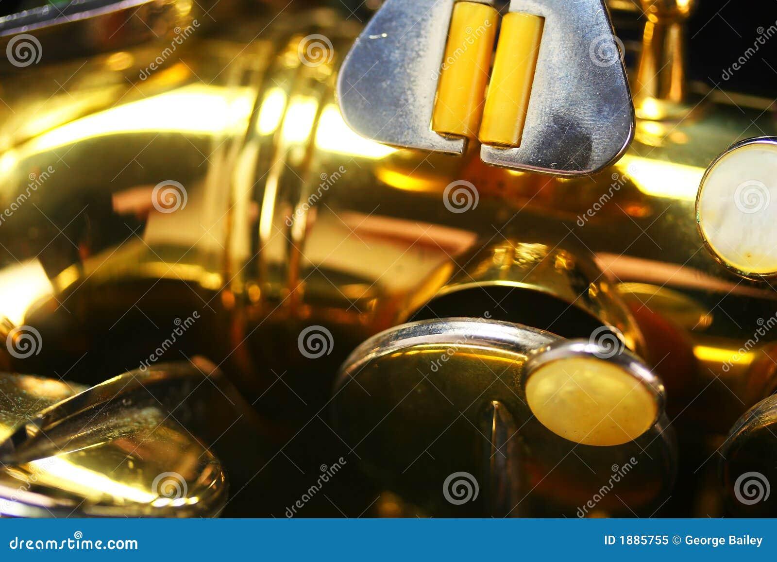 Macro velho do saxofone