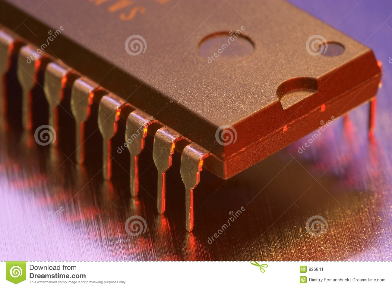 Macro view of a computer chip
