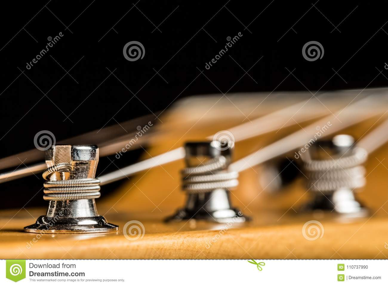 close up of an electric guitar tuning knob stock photo image of fasten beautiful 110737990. Black Bedroom Furniture Sets. Home Design Ideas
