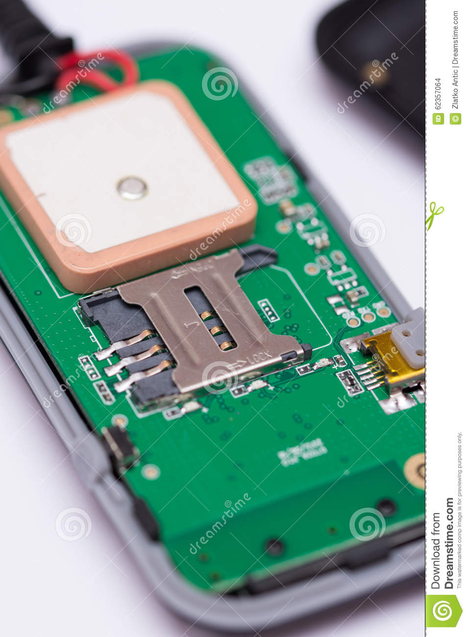 macro view of sim card place for insert stock photo image 62357064. Black Bedroom Furniture Sets. Home Design Ideas