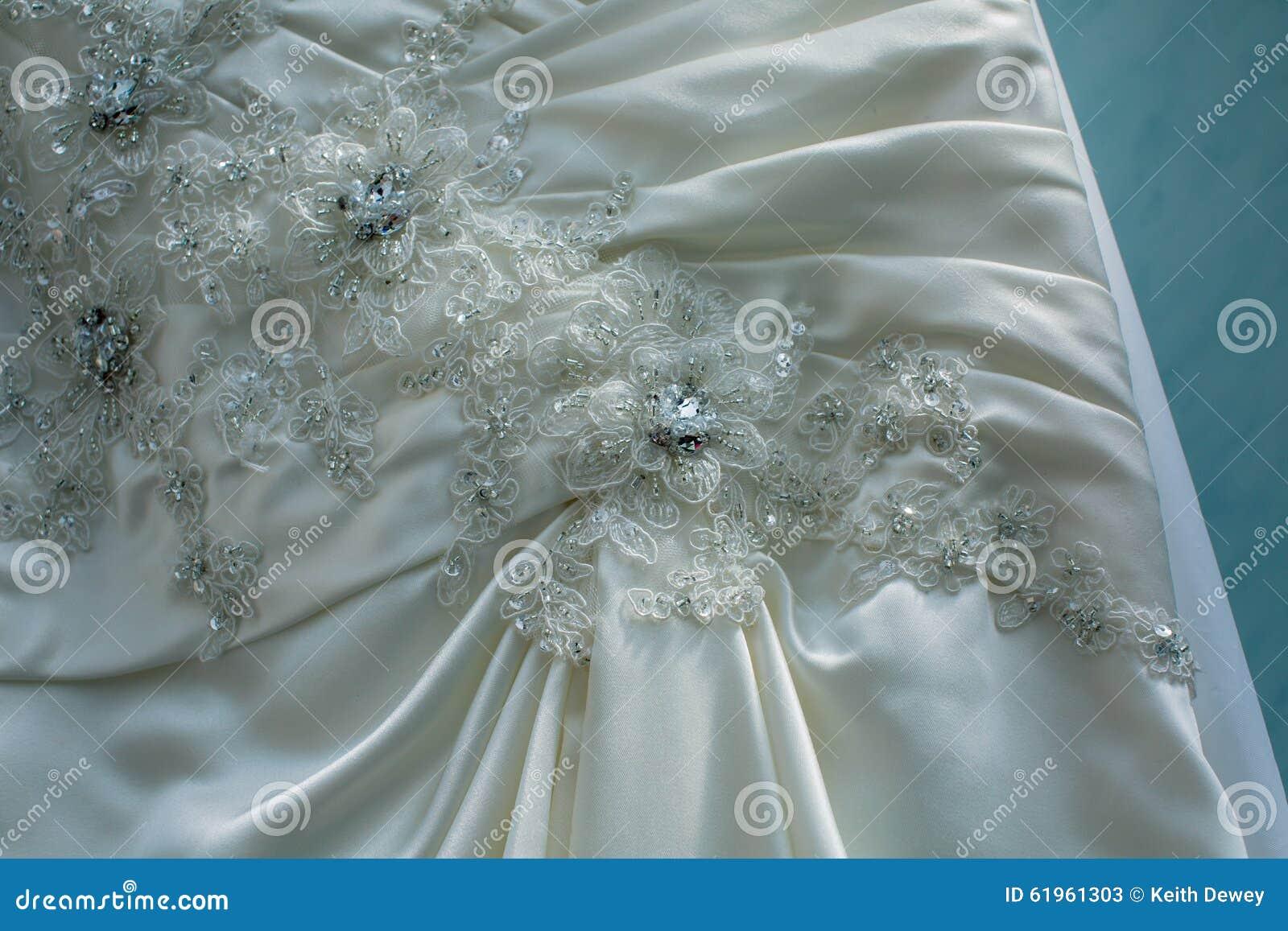 Macro Wedding Dress Pattern Stock Image - Image of skirt, bride ...