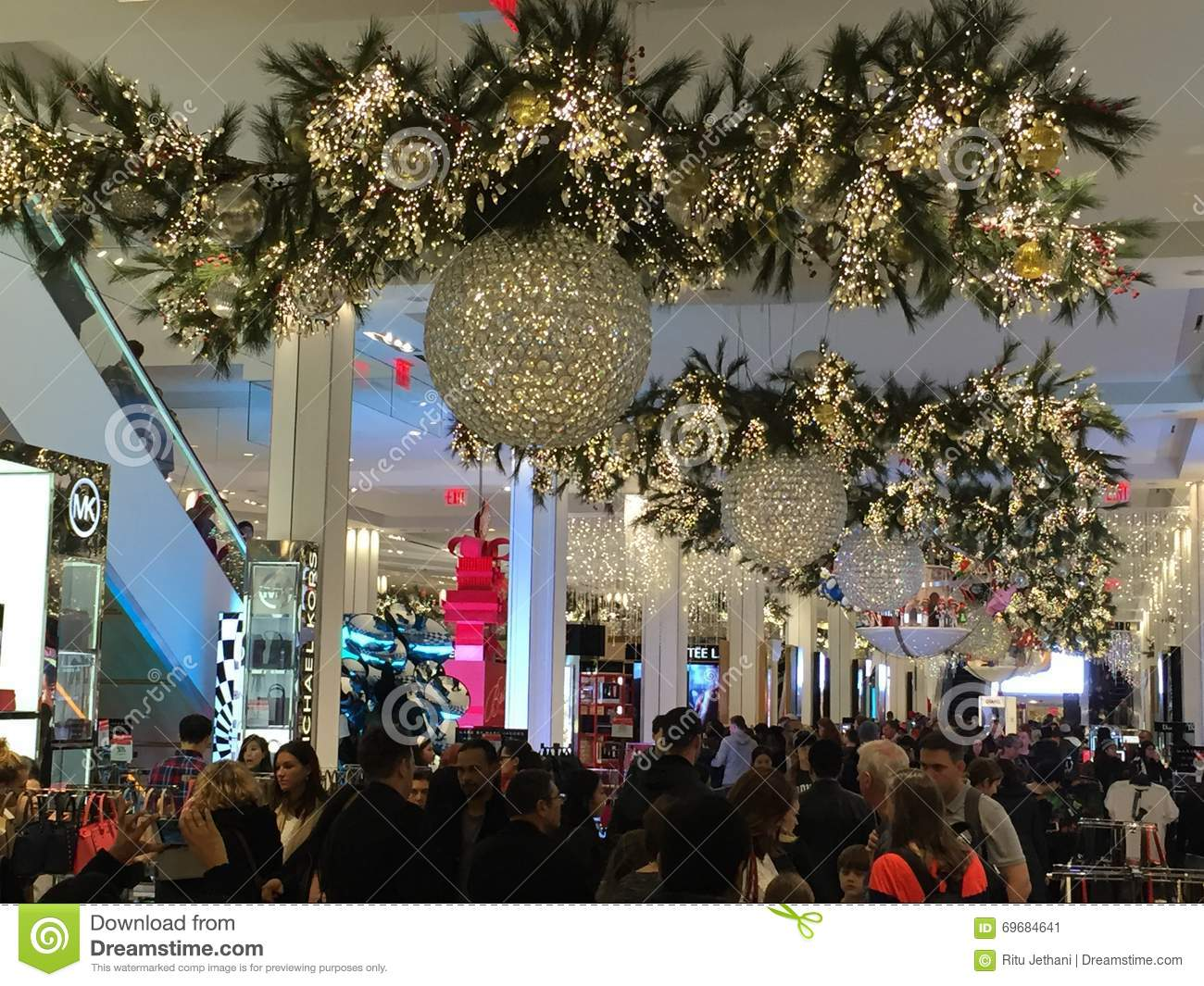 christmas decoration at macys herald square flagship store in new york usa - Macys Christmas Decorations