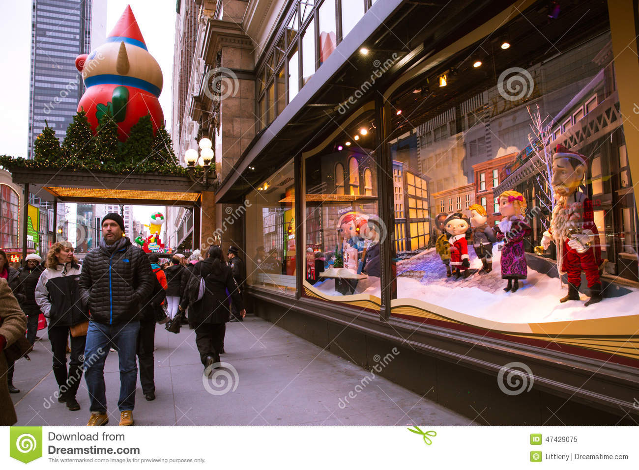 Macy\'s NYC Holiday Windows editorial image. Image of manhattan ...