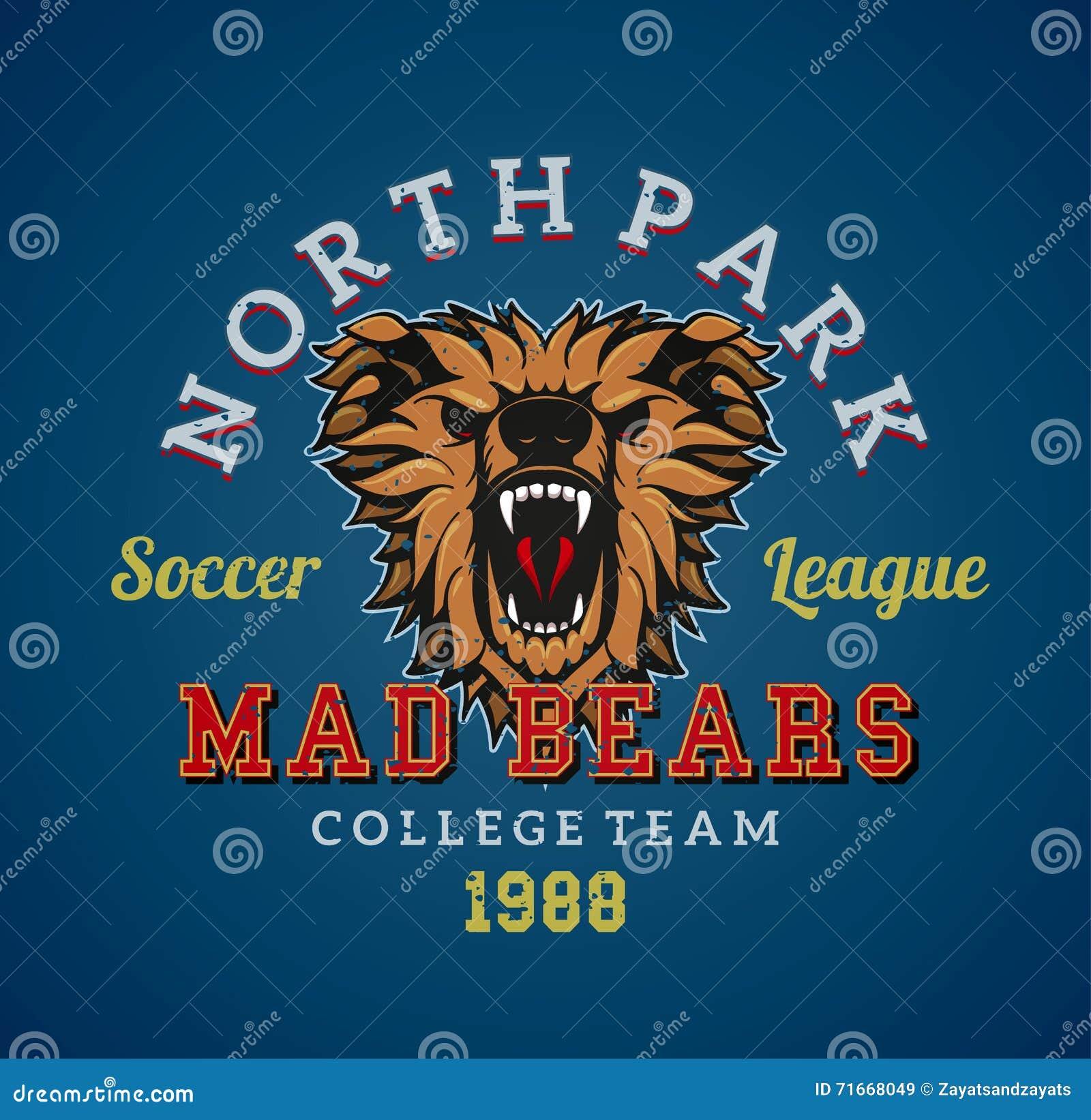 3834f3cb0 Mad bears team stock vector. Illustration of logo, head - 71668049