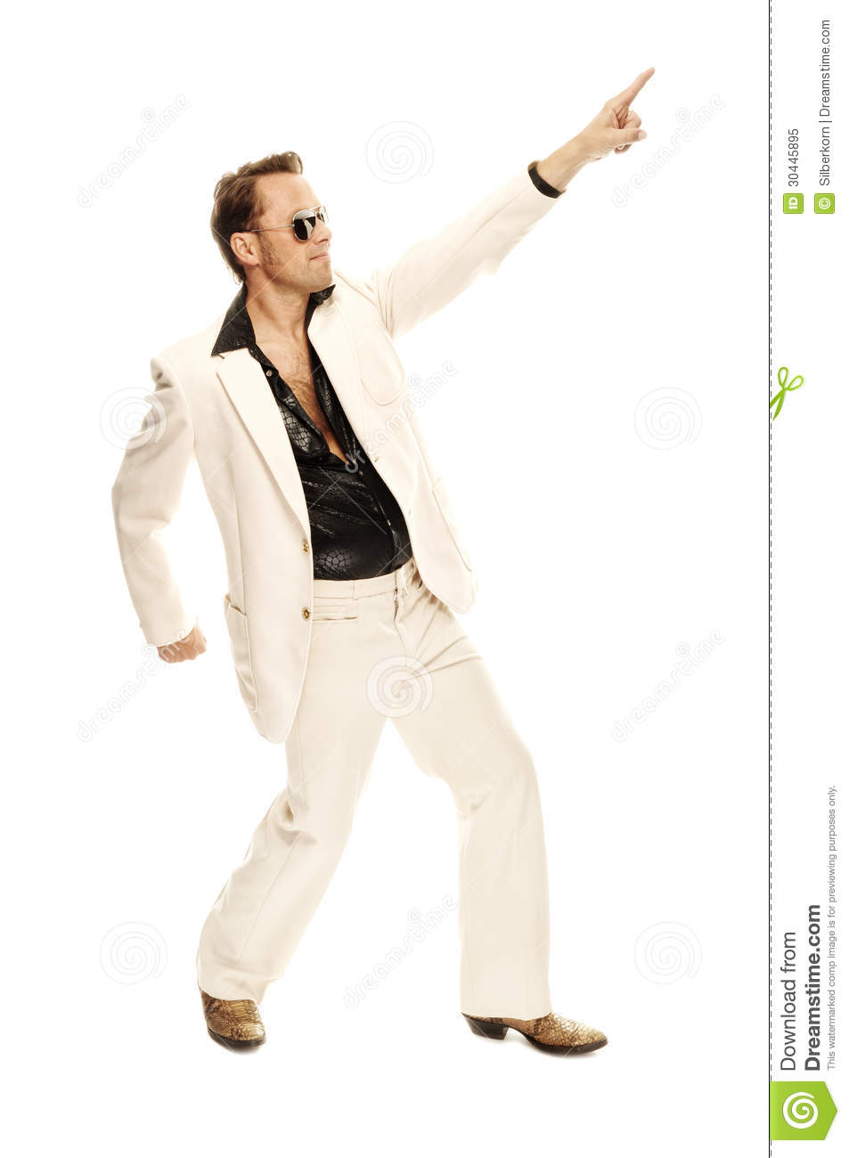 mad disco dancer in white suit and snake leather boots crazy person clipart Crazy Girl Clip Art
