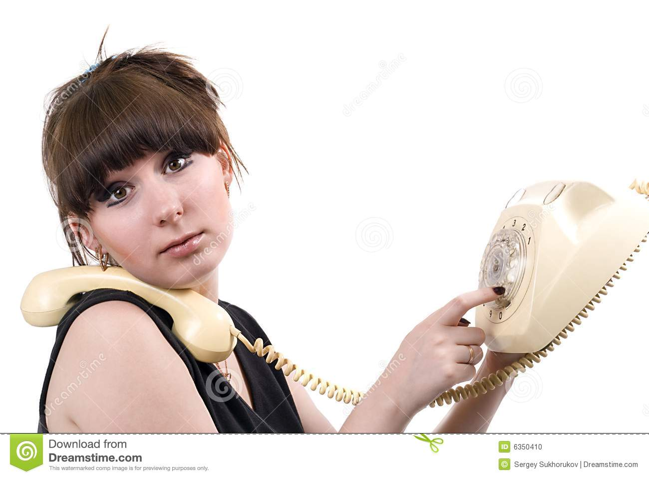 The mad housewife with phone