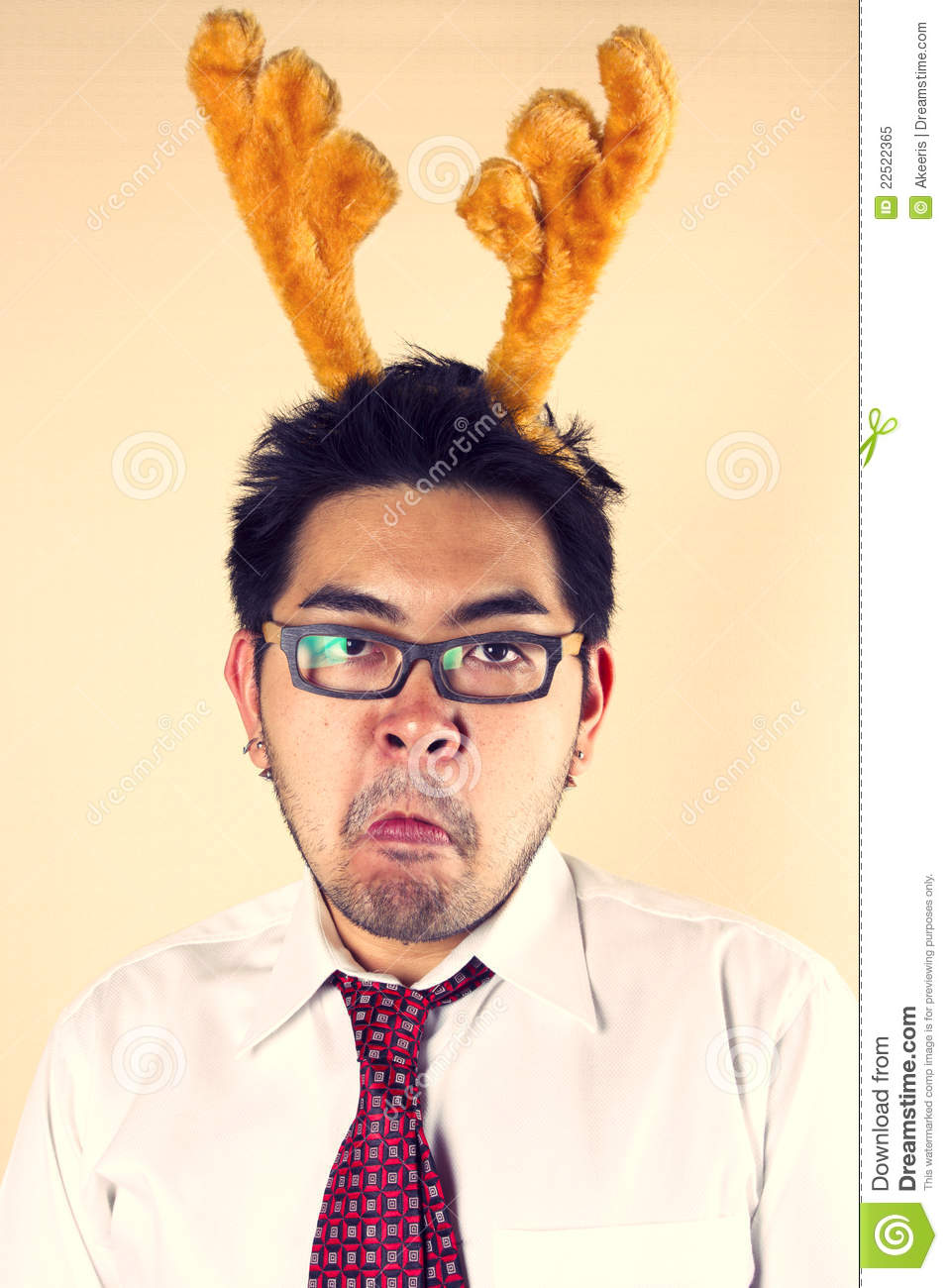 mad reindeer royalty free stock photo image 22522365