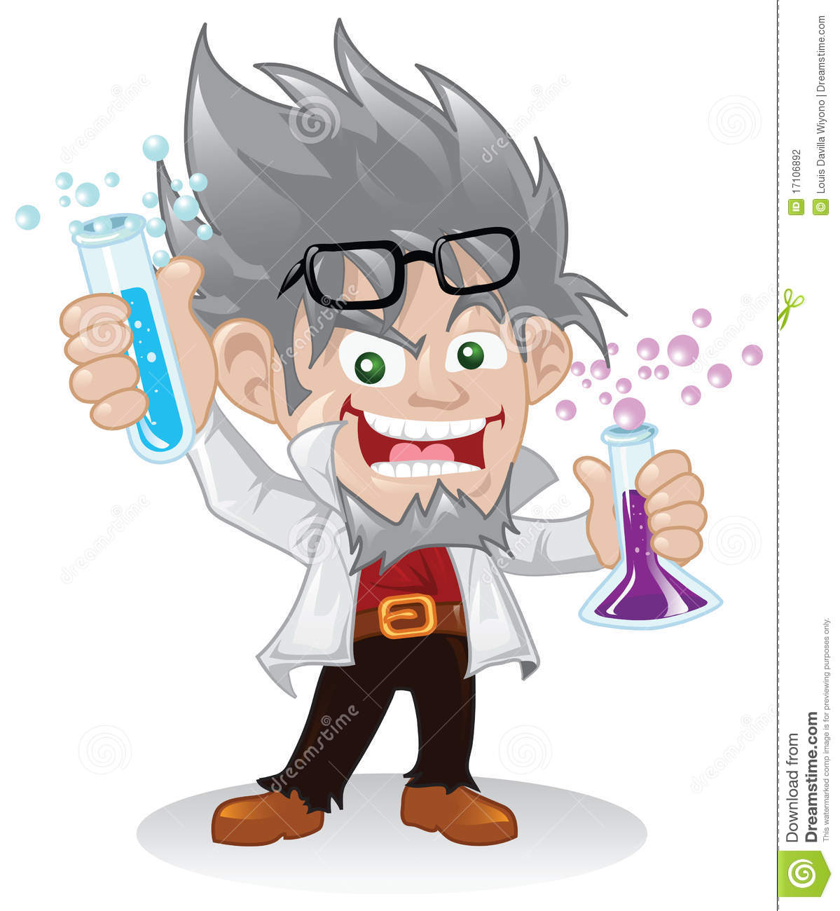 evil cartoon scientist - 597×700